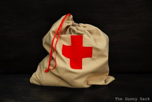 Filled Red Cross Bag