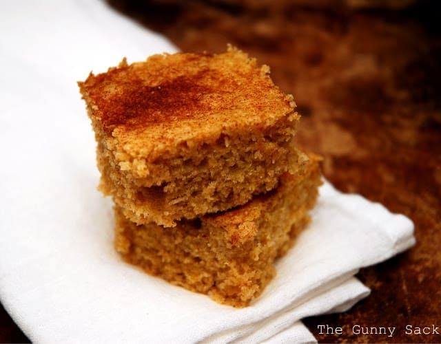 slices of cinnamon cornbread