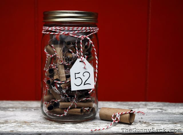 52 Things A Year In A Jar Handmade Gift In A Jar