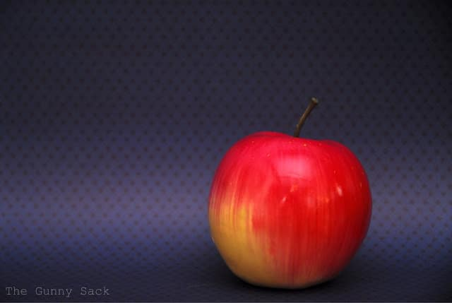Apple With Blue Background