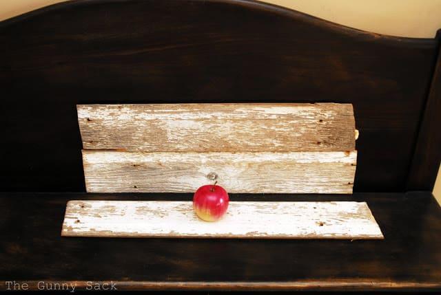 Apple On Barn Wood