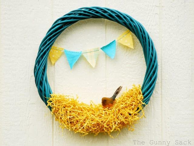 wreath with bird