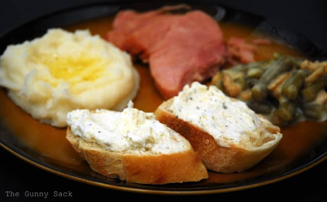 plate of food with bread
