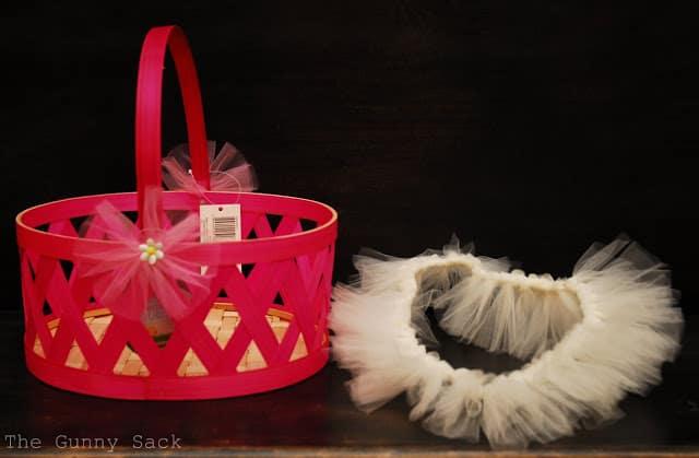 basket and tutu