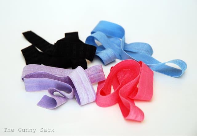 cut pieces of elastic