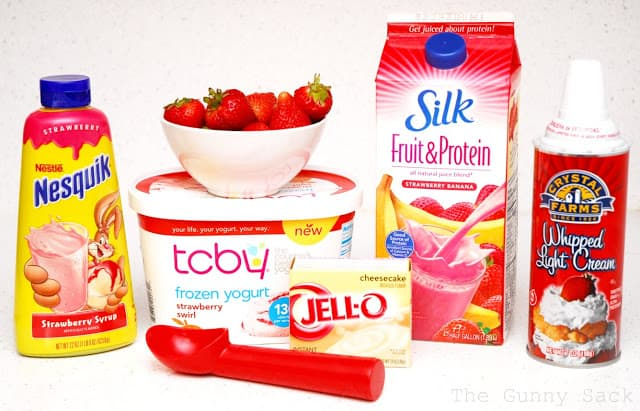 strawberry cheesecake shake ingredients