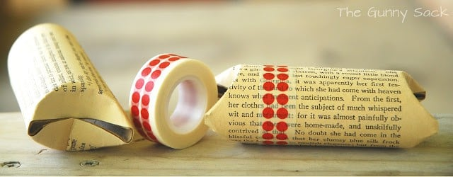washi tape on cardboard tube