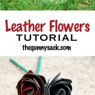 Leather Flowers Tutorial