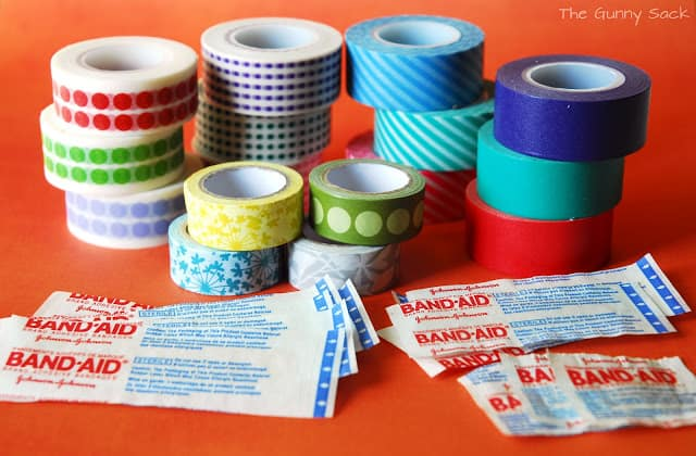 band-aids and washi tape