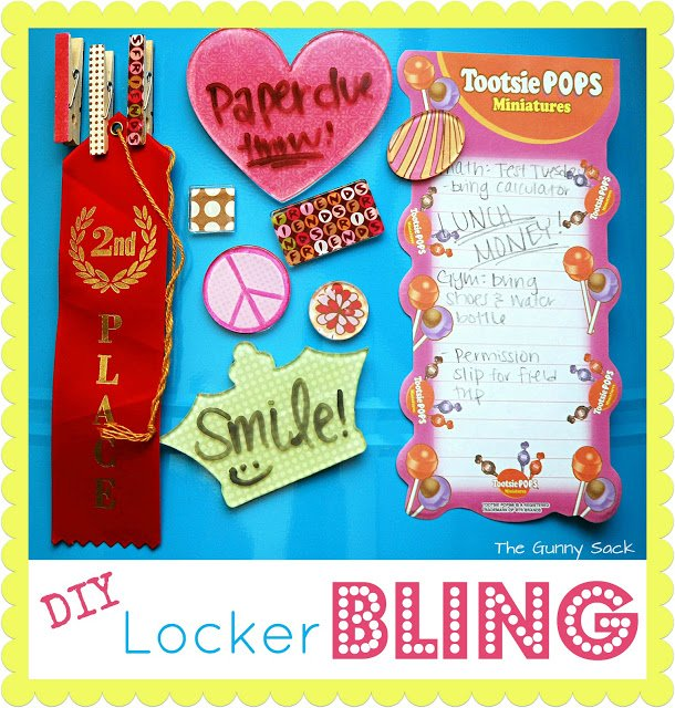 Locker Decoration Ideas For Birthdays: DIY Locker Accessories & Backpack Charms