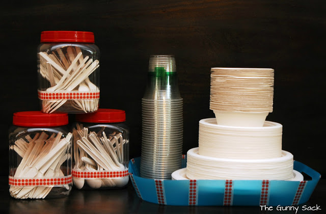 paper plates and plasticware