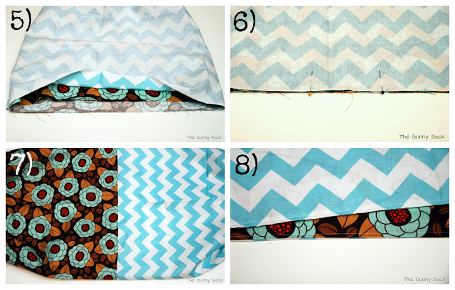 pinning and sewing bag