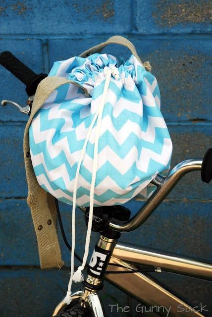 bucket bag on bike