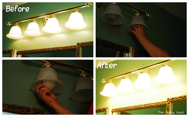 before and after new bulbs