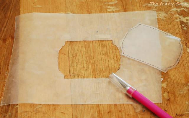 waxed paper stencil