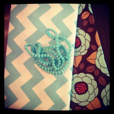 fabric and ribbon