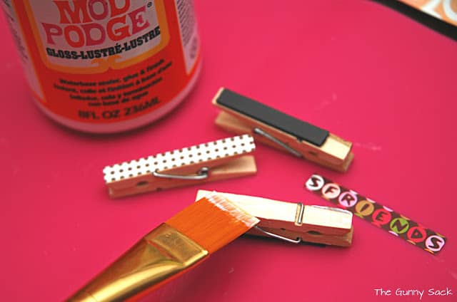 decoupage clothes pins
