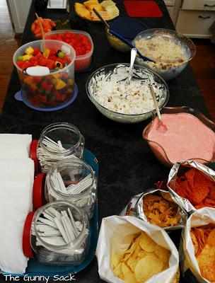 potluck table