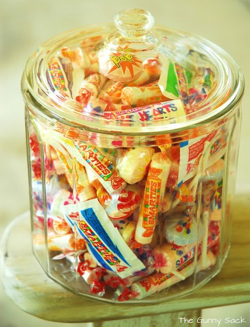 smarties in a jar