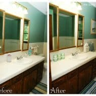 {5 Easy Steps} Quick Bathroom Makeover Just In Time For Guests