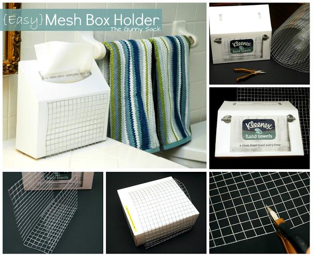 mesh box holder steps