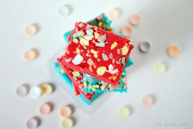 red and blue fudge