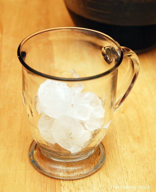ice in a cup
