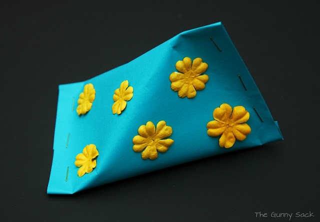 treat box with flowers