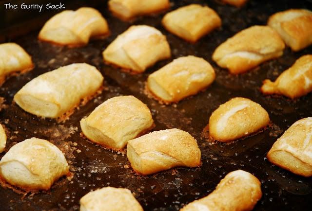 baked pretzel nuggets