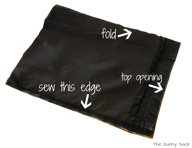 showing where to sew case
