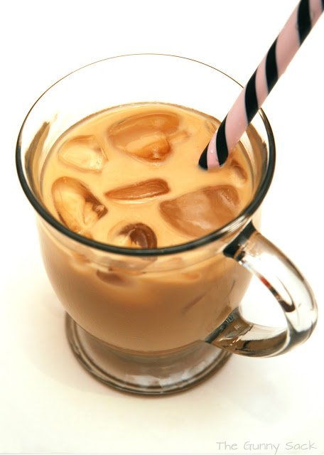 iced coffee in cup