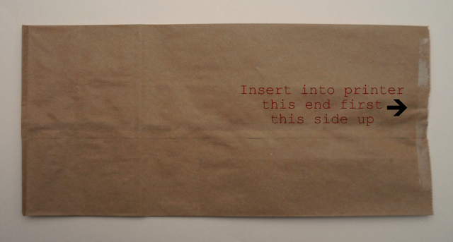 insert taped opening first