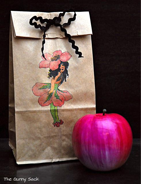 fairy printed on bag