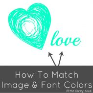 {Photography Editing} How To Match Image & Font Colors