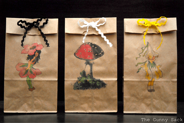 printed brown paper lunch bags