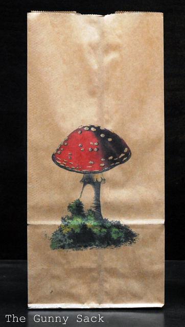 toadstool printed on bag