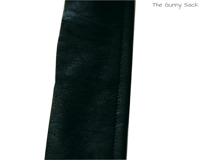 strip of black leather