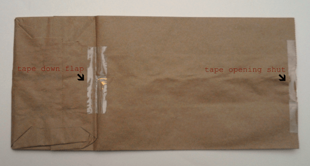 taped bag