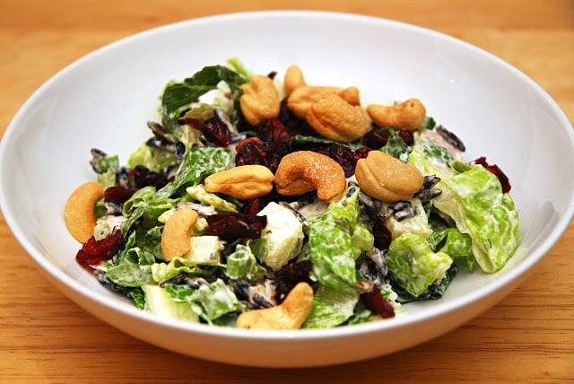 wild rice salad in bowl