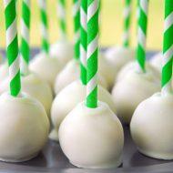 Paper Straw Cake Pops