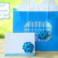 Flower Card and Gift Bag Set