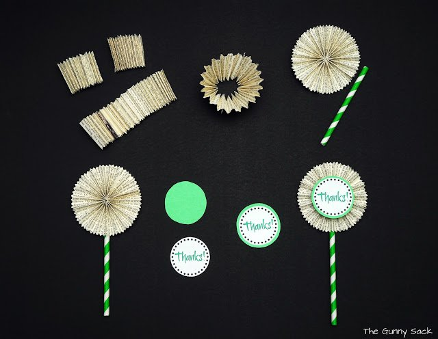 assembling cupcake toppers