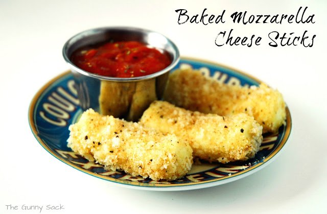 Baked Mozzarella Cheese Sticks Recipe The Gunny Sack