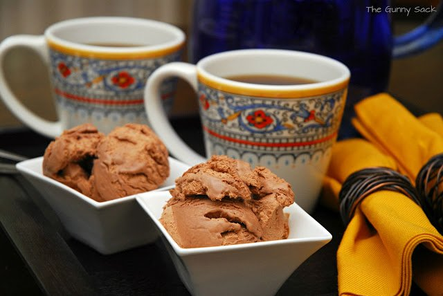 spicy chocolate ice cream in bowls