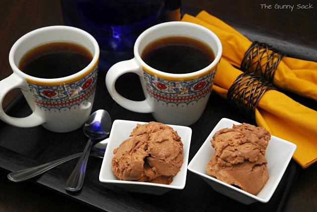chocolate ice cream and coffee