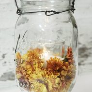 Mason Jar Mum Candles