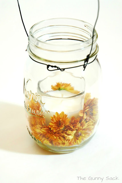 hanging mason jar