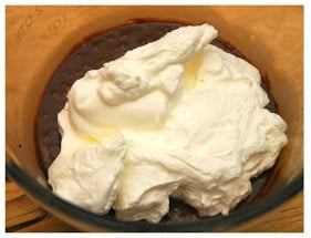 whipped cream and chocolate