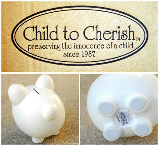 child to cherish piggy bank