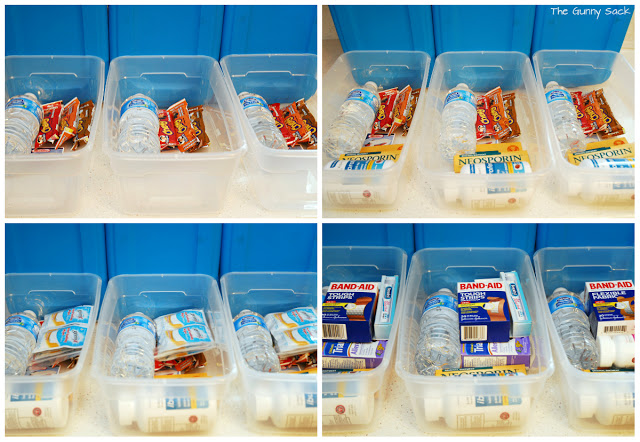 filling first aid boxes